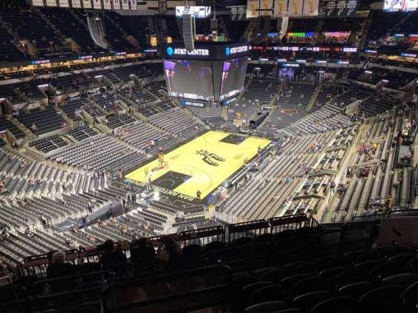 AT&T Center, section: 213, row: 10, seat: 12