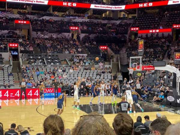 AT&T Center, section: 22, row: 13, seat: 4
