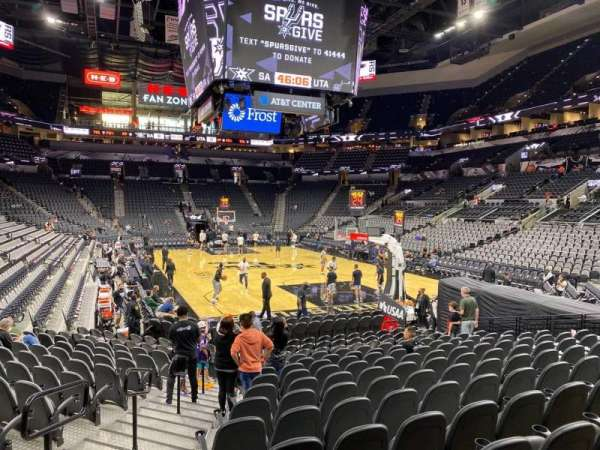 AT&T Center, section: 102, row: 17, seat: 1