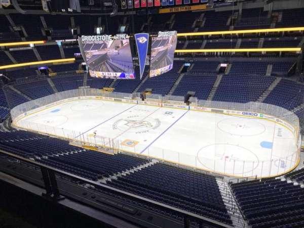 Bridgestone Arena, section: 312, row: B, seat: 9