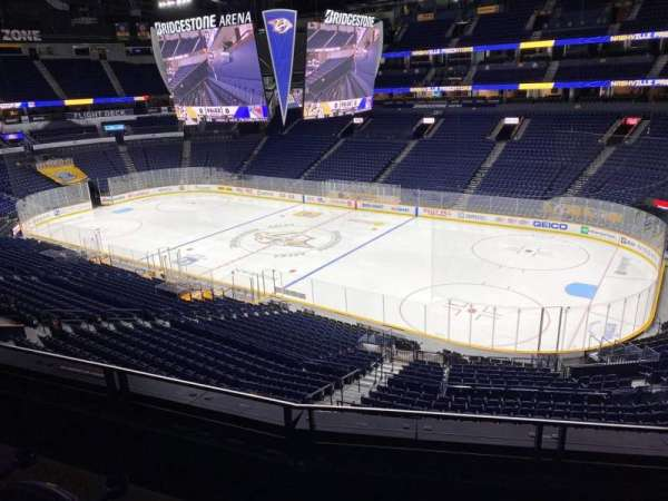Bridgestone Arena, section: 219, row: F, seat: 6