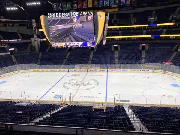 Bridgestone Arena, section: 217, row: F, seat: 10