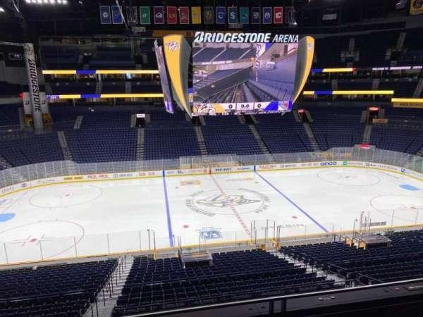 Bridgestone Arena, section: 215, row: F, seat: 10