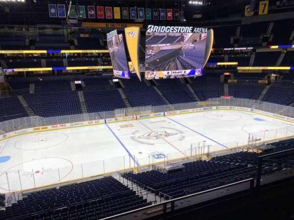 Bridgestone Arena, section: 214, row: F, seat: 5