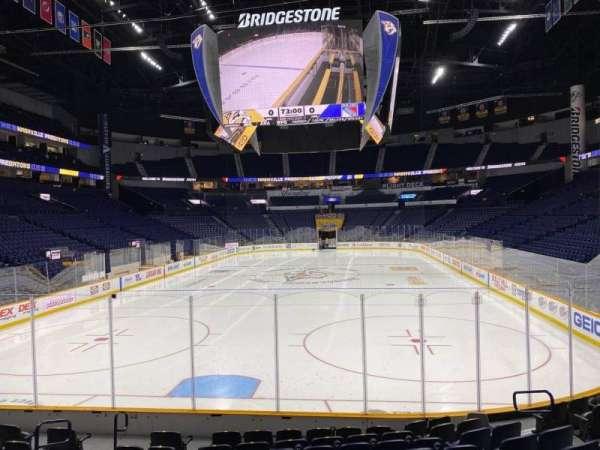 Bridgestone Arena, section: 101, row: Mm, seat: 10