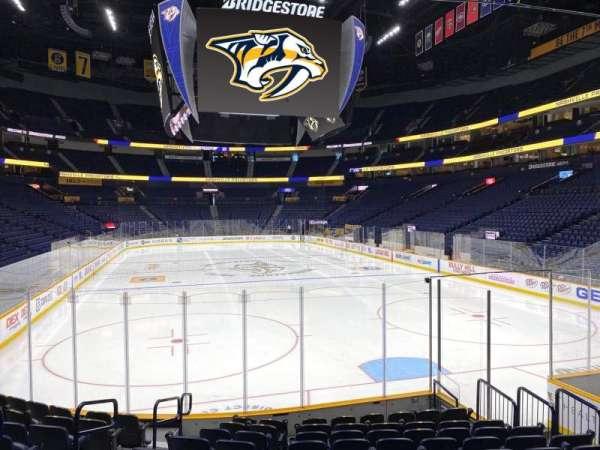 Bridgestone Arena, section: 110, row: Mm, seat: 12
