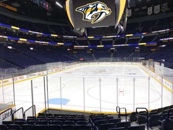 Bridgestone Arena, section: 111, row: Mm, seat: 4
