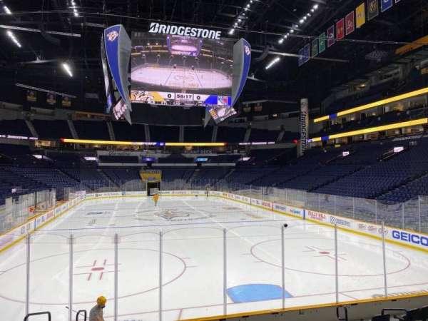 Bridgestone Arena, section: 120, row: Mm, seat: 9