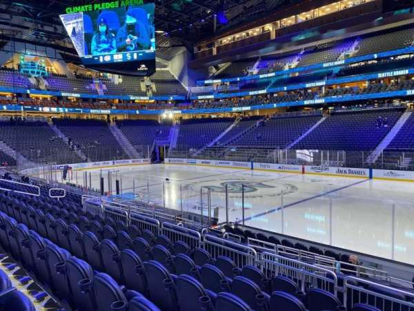 Climate Pledge Arena, section: 26, row: L, seat: 1