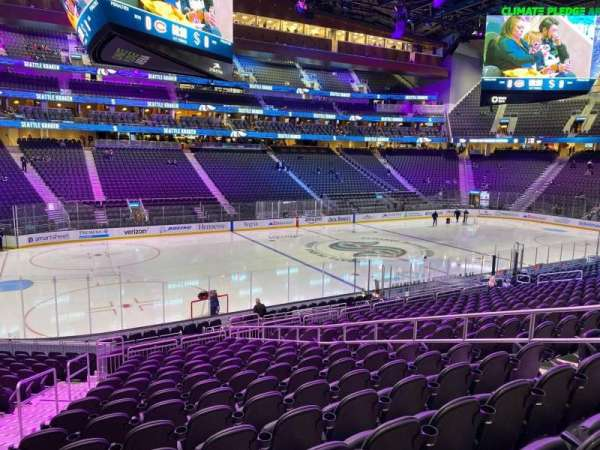 Climate Pledge Arena, section: 03, row: V, seat: 9
