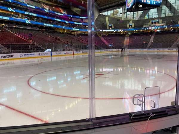 Climate Pledge Arena, section: Southeast Ice, row: Aa, seat: 3