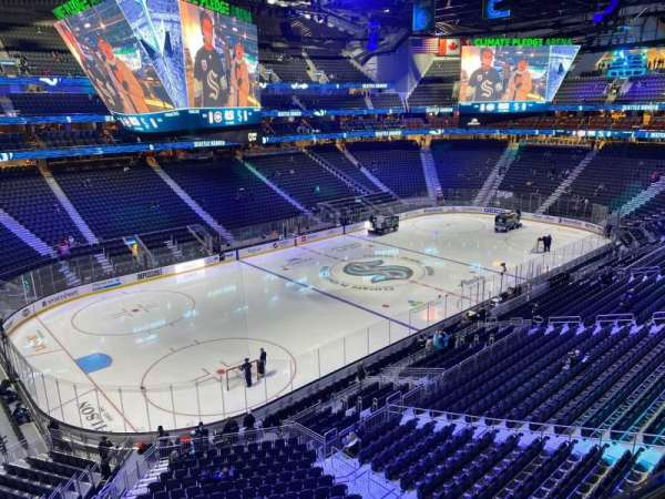 Climate Pledge Arena, section: 117, row: A, seat: 1