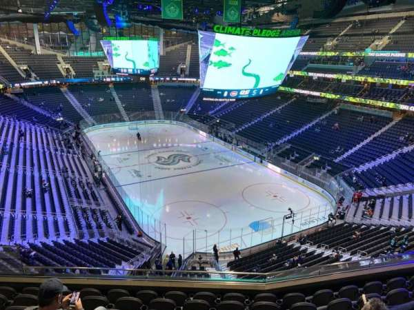 Climate Pledge Arena, section: 109, row: G, seat: 14
