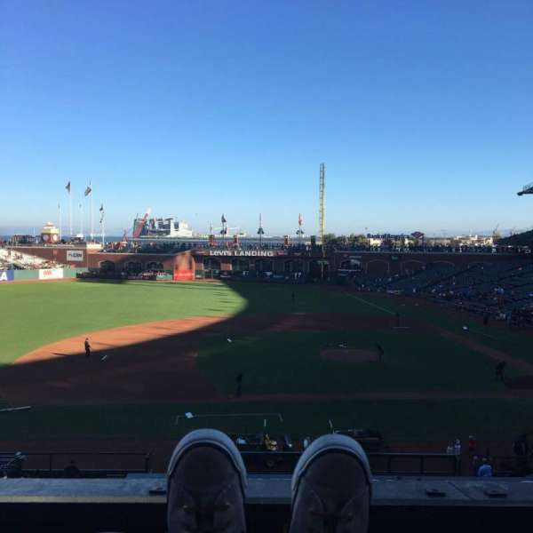 Oracle Park, section: 223, row: A, seat: 2