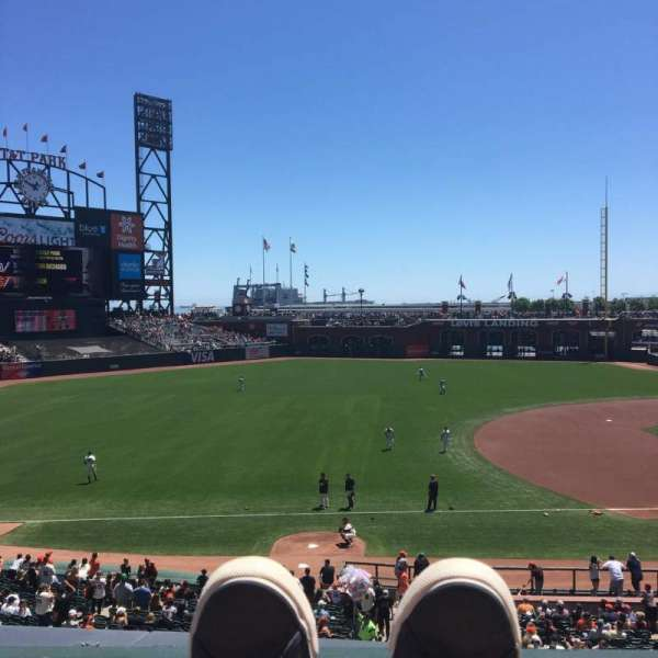 Oracle Park, section: 226, row: A, seat: 1