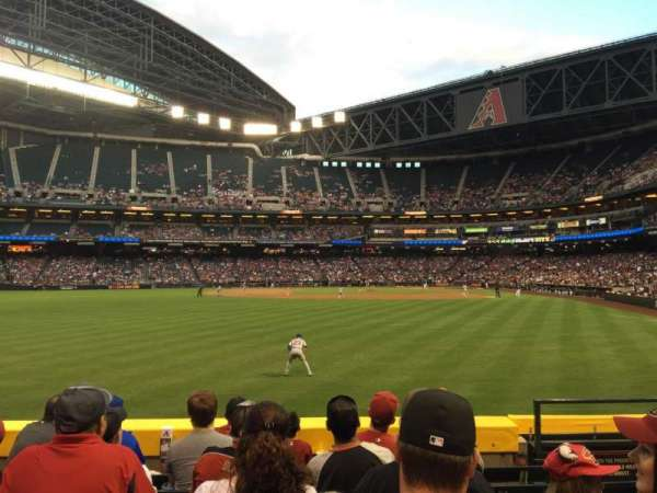 Chase Field, section: 141, row: 17, seat: 5