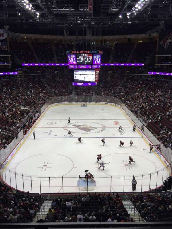 Gila River Arena, section: 223, row: B, seat: 9