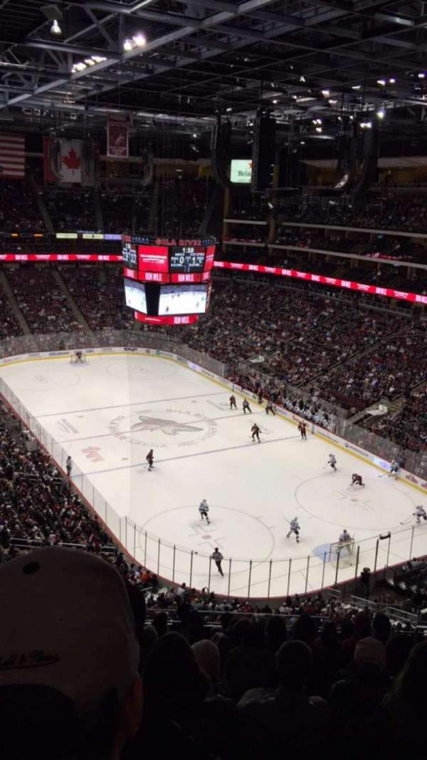 Gila River Arena, section: 210, row: J, seat: 5