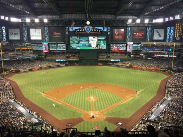 Chase Field, section: 316, row: 18, seat: 20