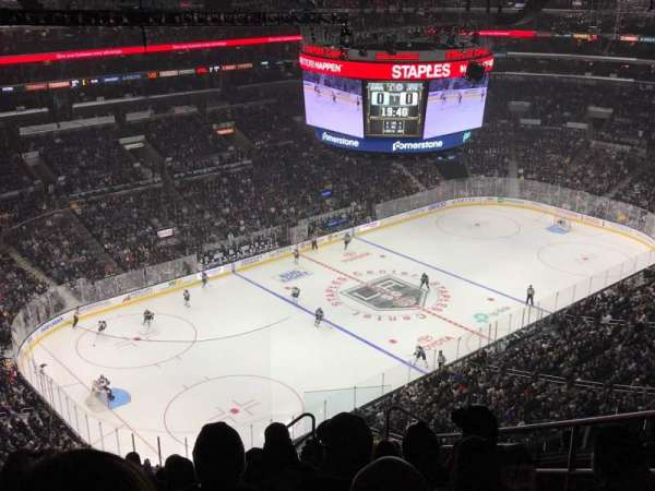 Staples Center, section: 322, row: 12, seat: 6