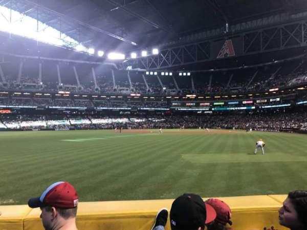 Chase Field, section: 142, row: 13, seat: 9
