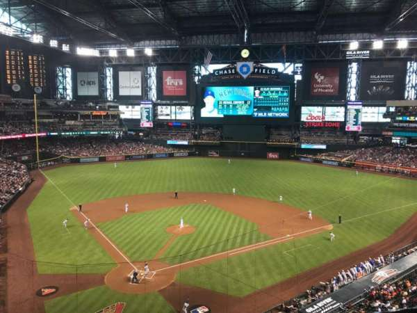 Chase Field, section: 314, row: 1, seat: 10