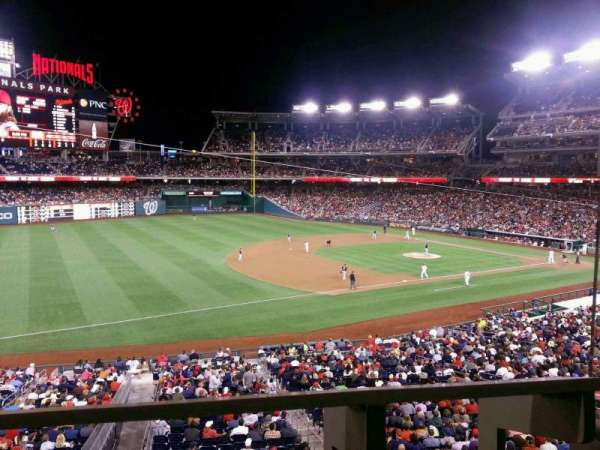 Nationals Park, section: 205, row: A, seat: 1