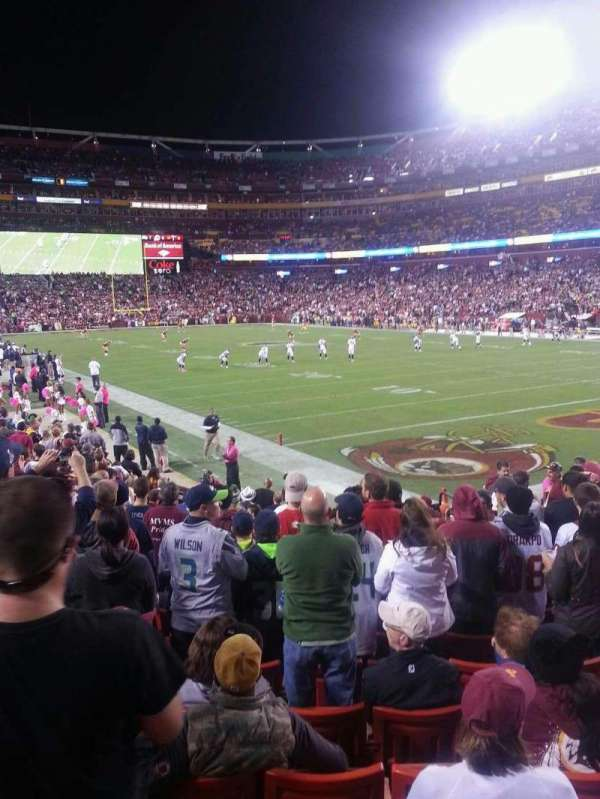FedEx Field, section: 114, row: 14, seat: 14