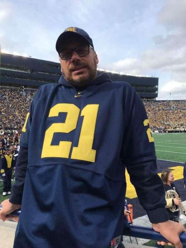 Michigan Stadium, section: 9, row: A, seat: 17