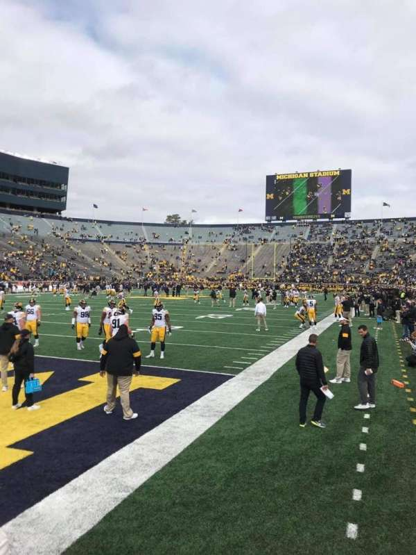 Michigan Stadium, section: 9, row: A, seat: 17-18