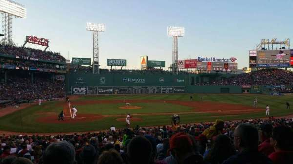 Fenway Park, section: Loge Box 124, row: LL, seat: 3