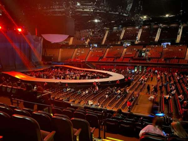 The Forum, section: 129, row: 10, seat: 1