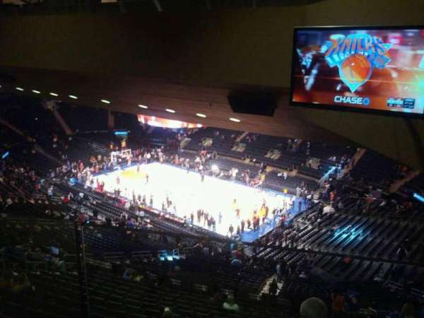 Madison Square Garden, section: 412, row: 1