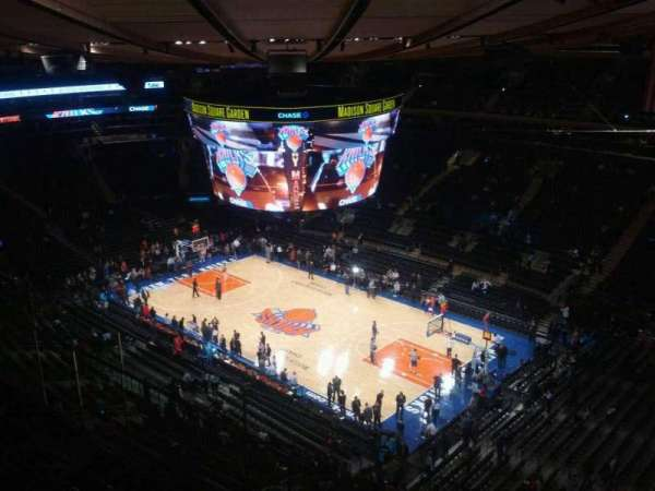 Madison Square Garden, section: 315, row: 3