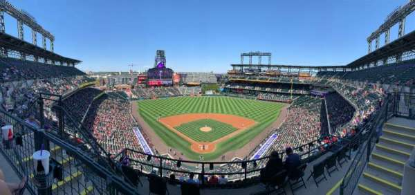 Coors Field, section: U330, row: 10, seat: 12