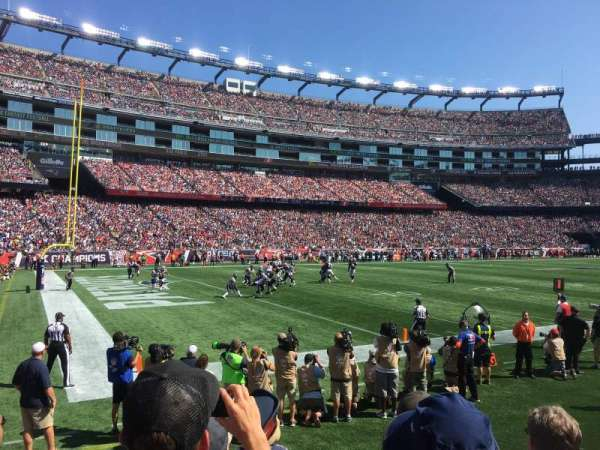 Gillette Stadium, section: 137, row: 4, seat: 9