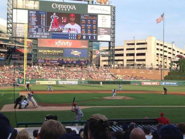 Comerica Park, section: 124, row: 18, seat: 9