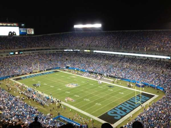 Bank of America Stadium, section: 535, row: 27, seat: 3