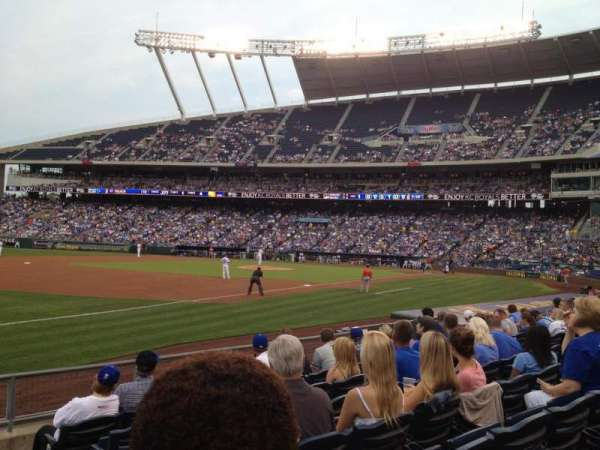 Kauffman Stadium, section: 114, row: H, seat: 10
