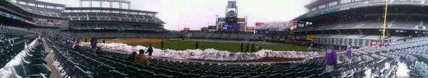 Coors Field, section: 116, row: 9, seat: 8