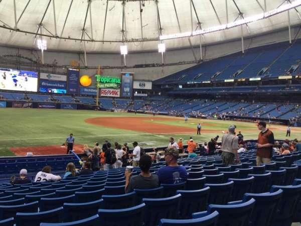 Tropicana Field, section: 127, row: U, seat: 10