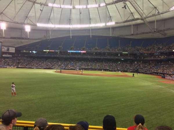Tropicana Field, section: 141, row: W, seat: 5
