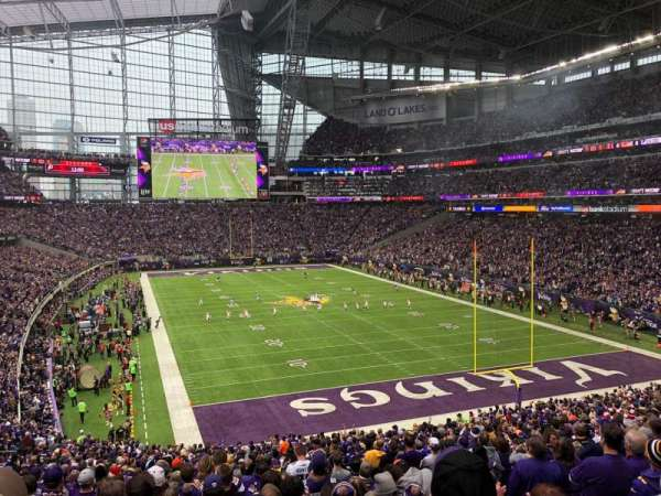 U.S. Bank Stadium, section: 122, row: 37, seat: 5