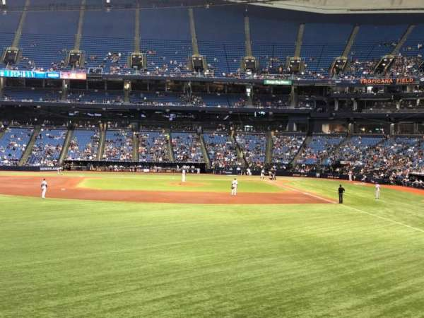 Tropicana Field, section: 143, row: AA, seat: 18