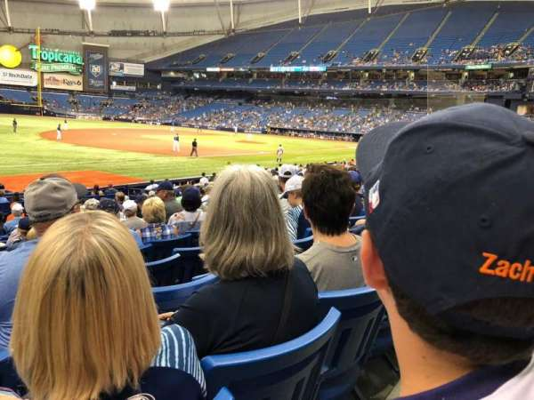 Tropicana Field, section: 127, row: V, seat: 1