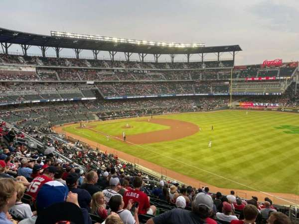 Truist Park, section: 213, row: 12, seat: 1