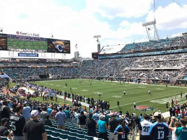 TIAA Bank Field, section: 128, row: AA, seat: 10