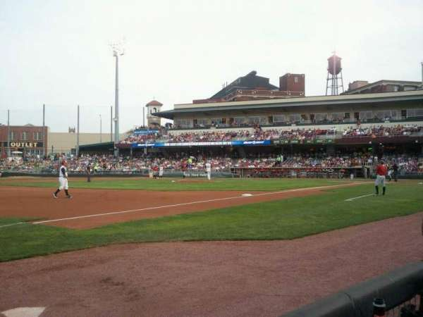 Fifth Third Field (Dayton), section: 114, row: 1, seat: 30