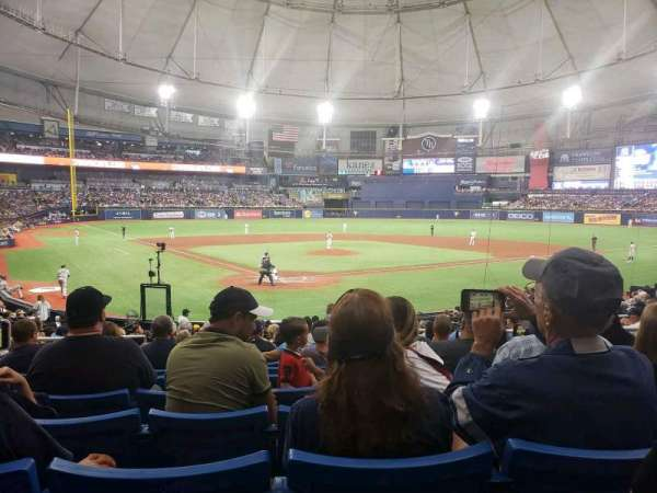 Tropicana Field, section: 104, row: AA, seat: 6