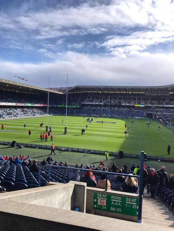Murrayfield Stadium, section: N3, row: JJ, seat: 9